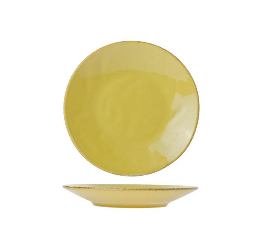 Cosy & Trendy Organic line olijfgroen dessertbord 23,5, 6 maal 1 stuk
