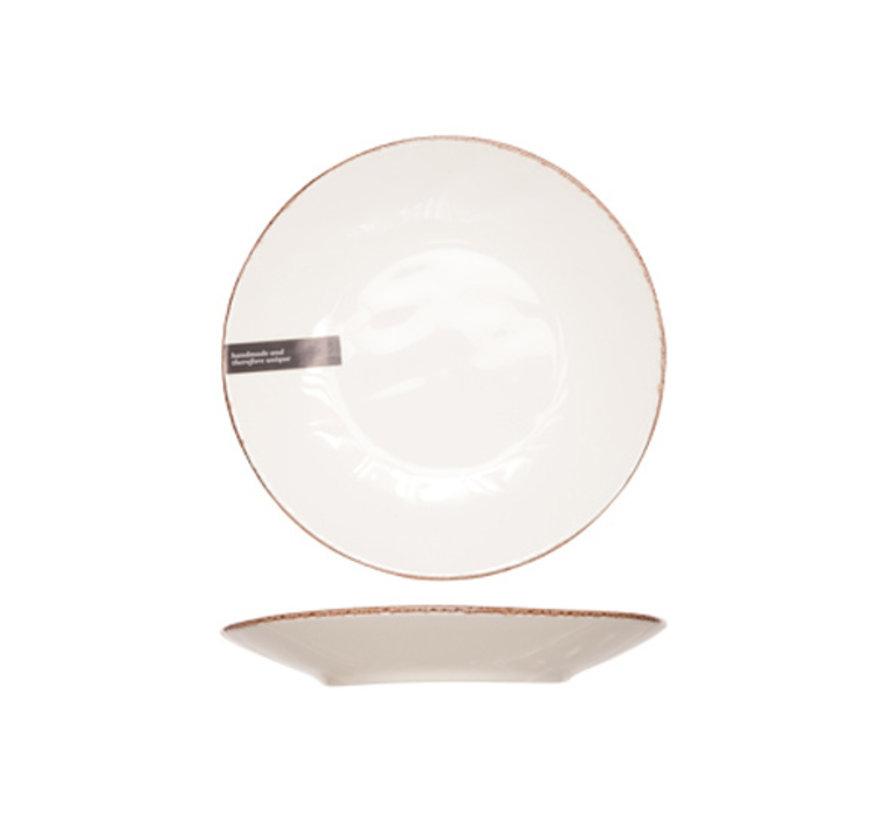 Cosy & Trendy Organic line ivoor dessertbord 23,5cm, 6 maal 1 stuk