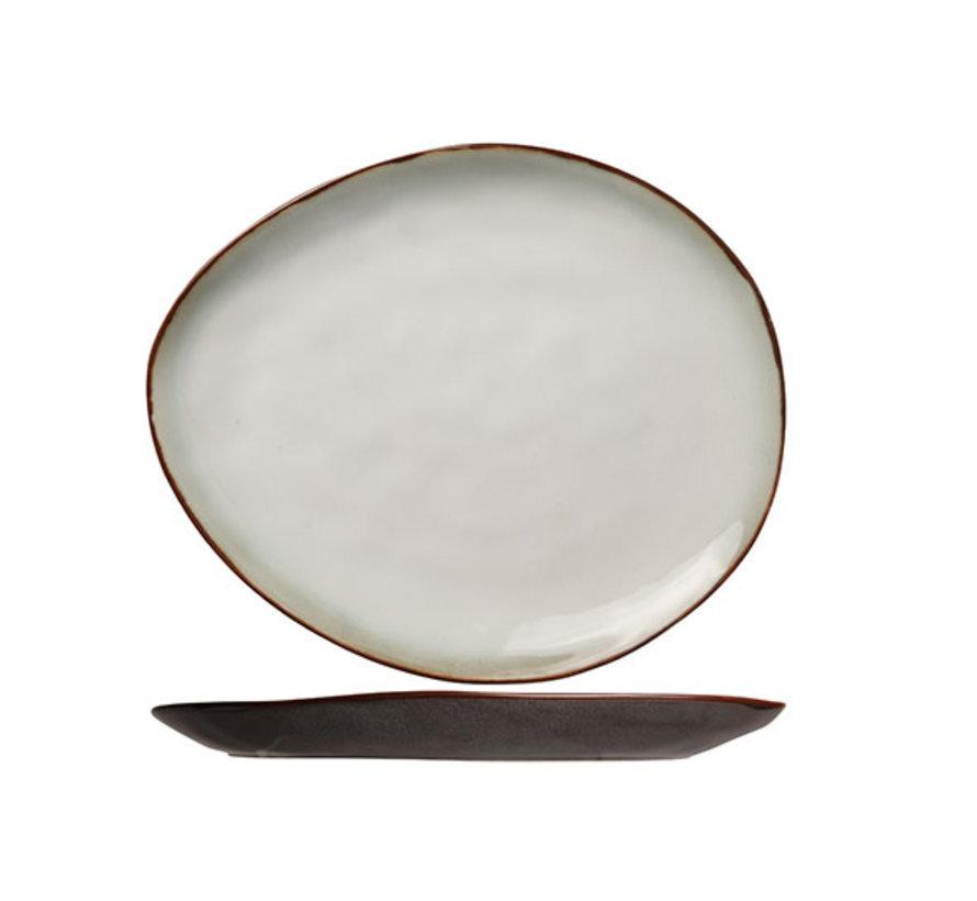 Cosy & Trendy Plato mat bord ovaal 19,5x16cm, 6 maal 1 stuk