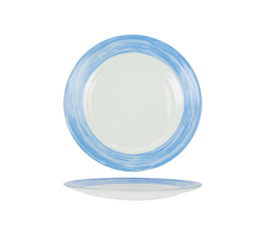 Arcoroc Brush plat bord blauw 25,4cm, 6 maal 1 stuk