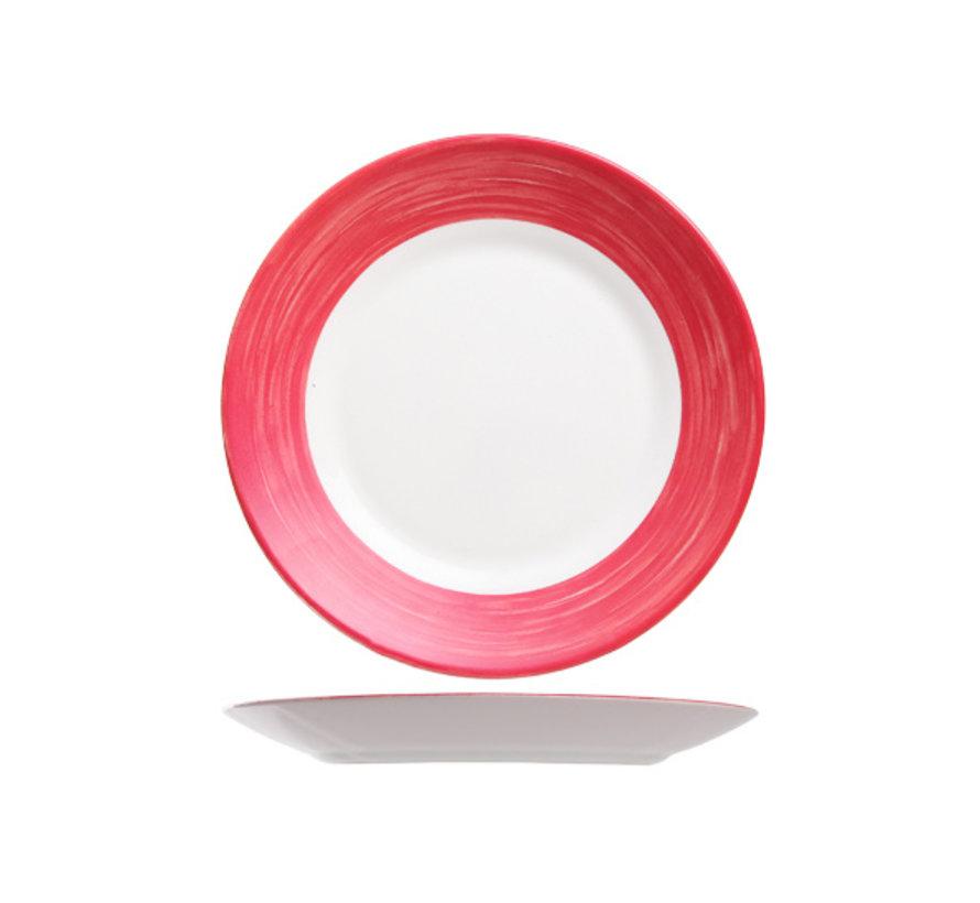 Arcoroc Brush cherry plat bord 23,5 cm, 6 stuks