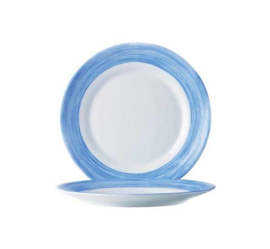 Arcoroc Brush plat bord blauw 23,5cm, 6 stuks