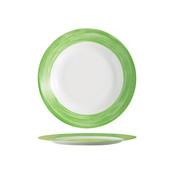 Arcoroc Arcoroc Brush plat bord groen 23,5cm, 6 stuks