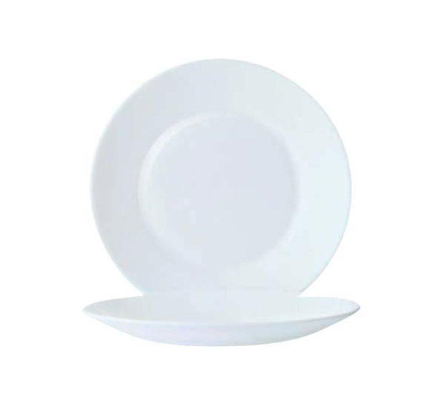 Arcoroc Restaurant uni plat bord 22,5cm, 6 stuks
