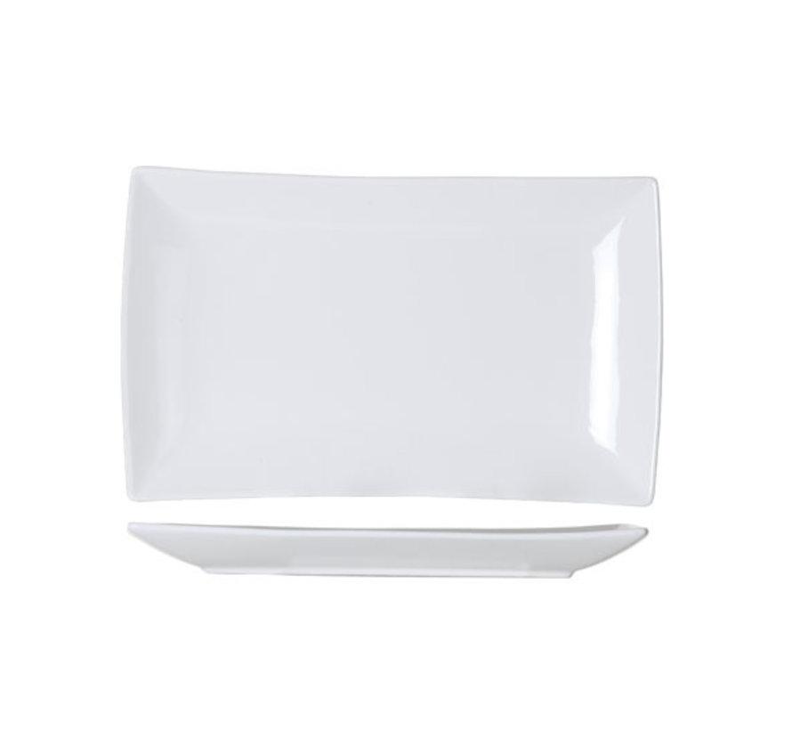 Cosy & Trendy Avantgarde plat bord 31,6x18,7xh2,7cm nb, 4 maal 1 stuk
