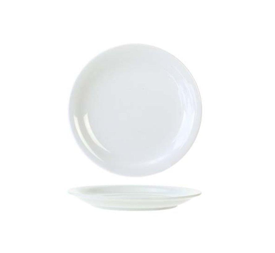 Cosy & Trendy Everyday witte plat bord 18,5cm, 6 maal 1 stuk