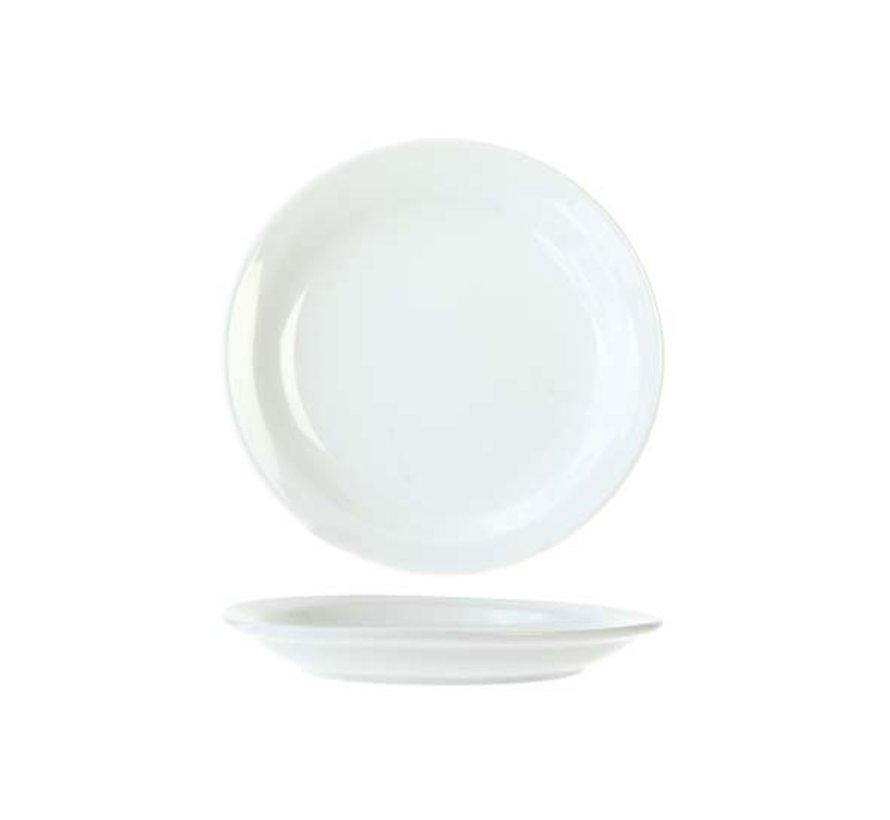 Cosy & Trendy Everyday witte plat bord 16cm, 6 maal 1 stuk
