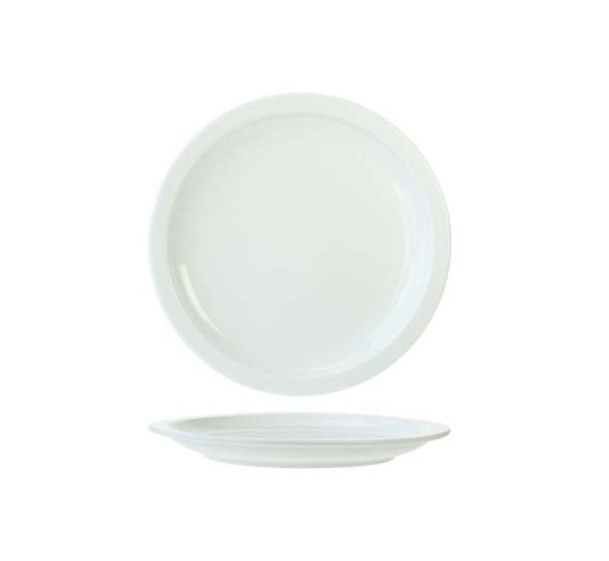 Cosy & Trendy Everyday witte plat bord 27cm, 6 maal 1 stuk