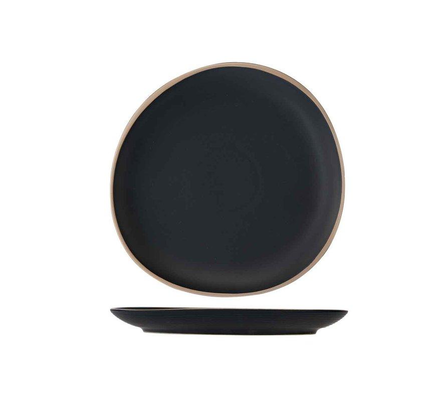 Cosy & Trendy Galloway black plat bord d26cm, 4 maal 1 stuk