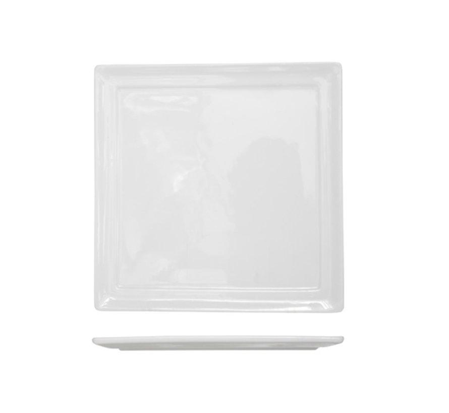 Cosy & Trendy Kara plat bord 18x18cm vierkantig, 6 maal 1 stuk