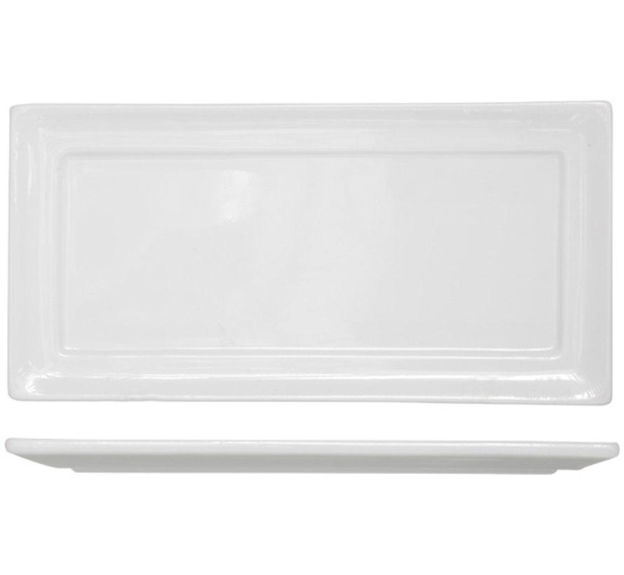 Cosy & Trendy Kara plat bord 18x36,5cm rechthoekig, 4 maal 1 stuk
