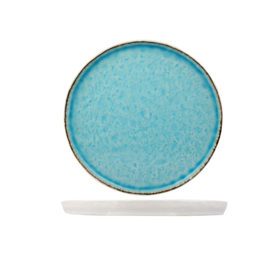 Cosy & Trendy Laguna azzurro plat bord 27cm rond, 4 maal 1 stuk