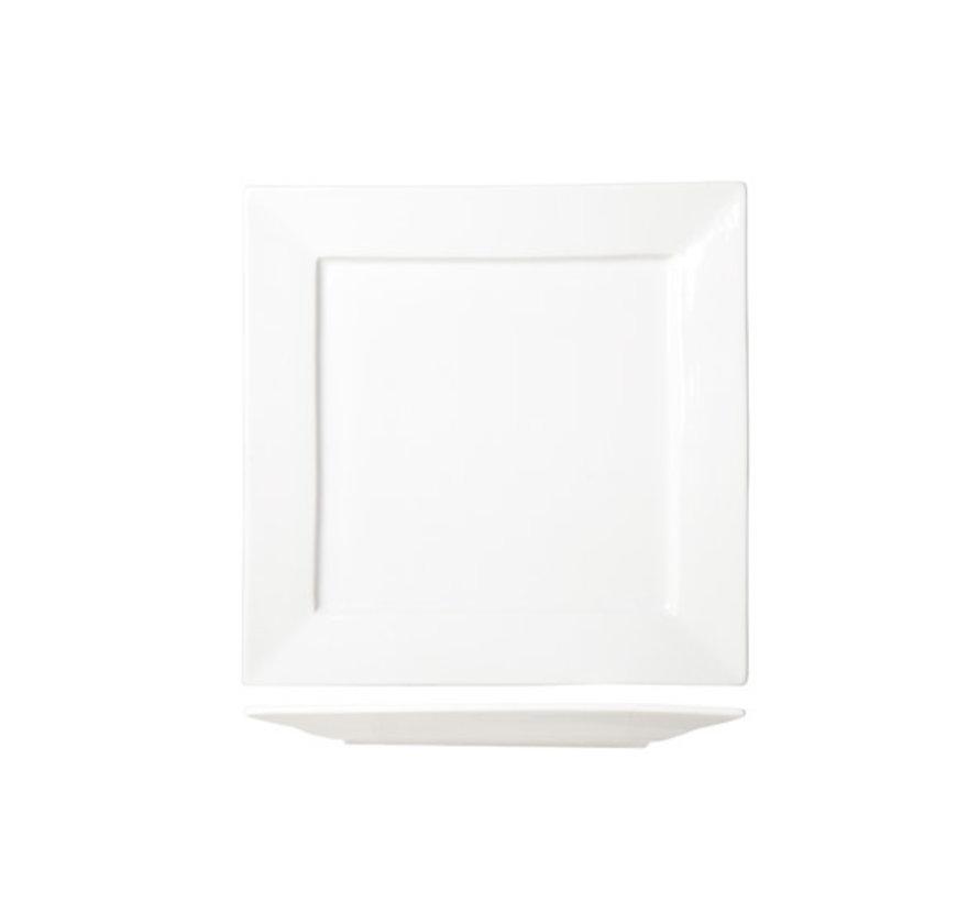 Cosy & Trendy Napoli witte plat bord 27x27cm, 3 maal 1 stuk
