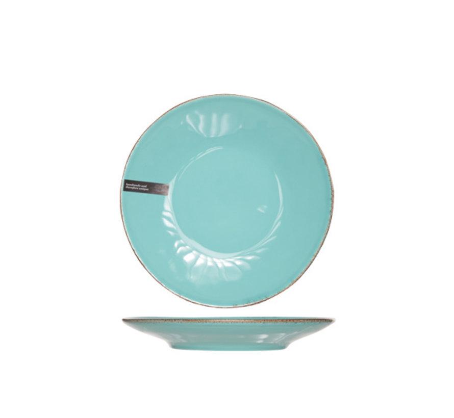 Cosy & Trendy Organic line blauw plat bord 28cm, 6 maal 1 stuk
