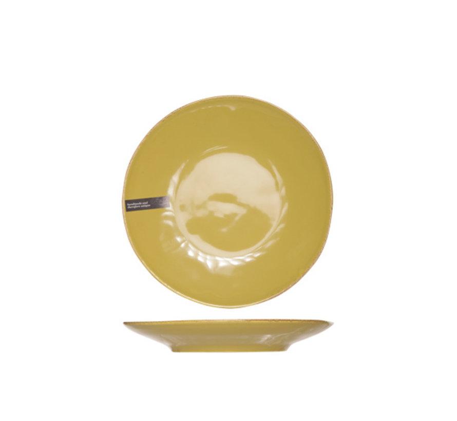 Cosy & Trendy Organic line olijfgroen plat bord 28cm, 6 maal 1 stuk