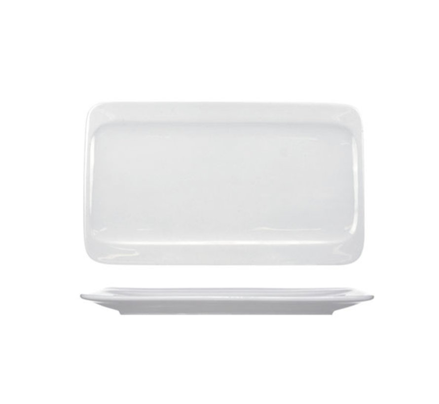 Cosy & Trendy Orinoco plat bord 28x16,5cm rechthoekig, 6 maal 1 stuk