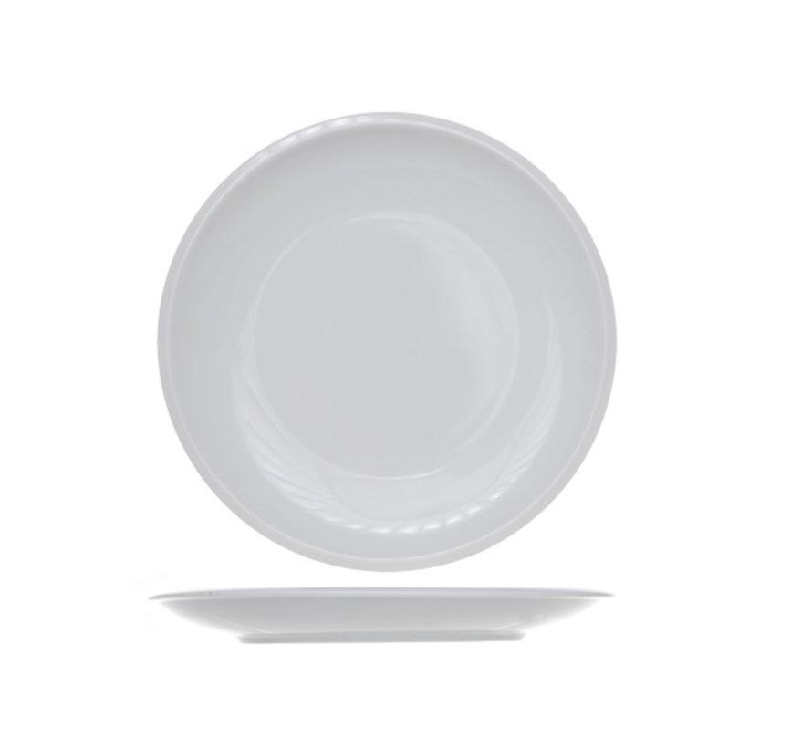 Cosy & Trendy Pleasure witte plat bord 26,5cm, 12 maal 1 stuk