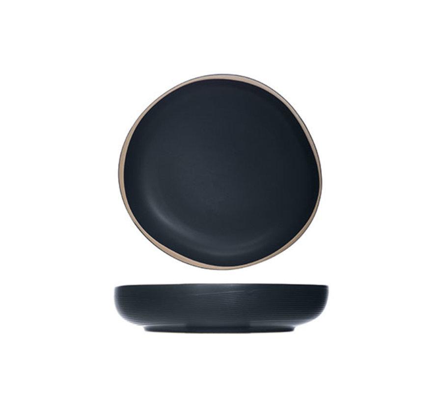 Cosy & Trendy Galloway zwarte schaal 19xh4cm, 4 maal 1 stuk