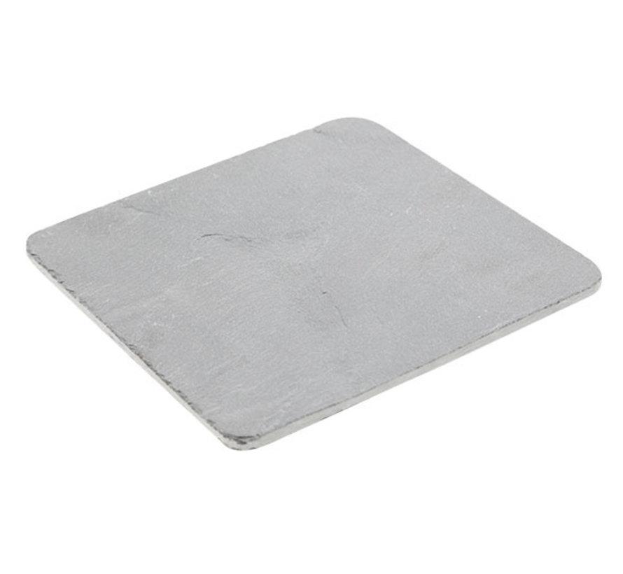 Cosy & Trendy Rondhoekig leisteenplankje 15x15x0,5cm, 12 maal 1 stuk