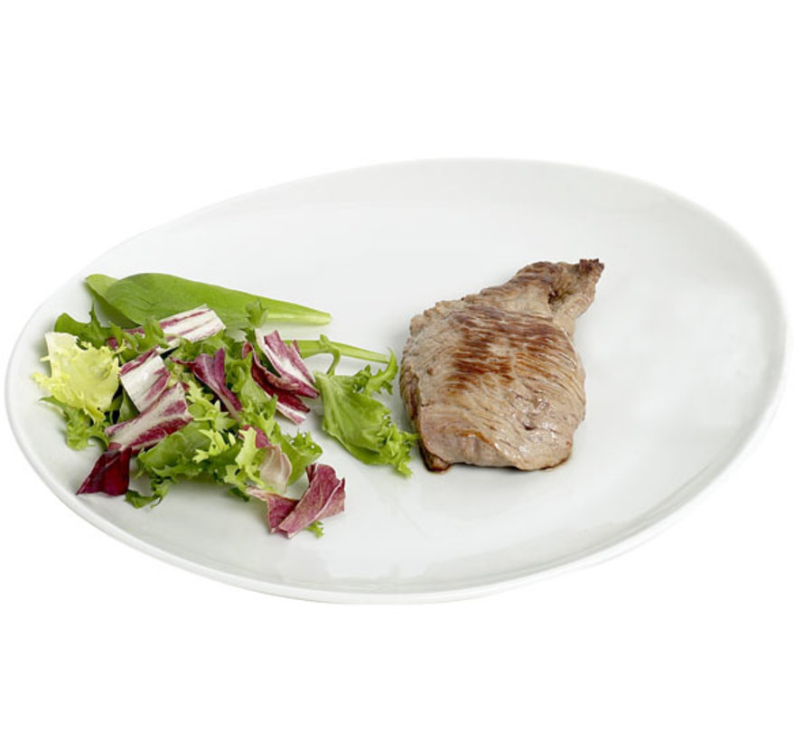 Cosy & Trendy Saturnia steak-visbord wit 30,5cm, 6 maal 1 stuk