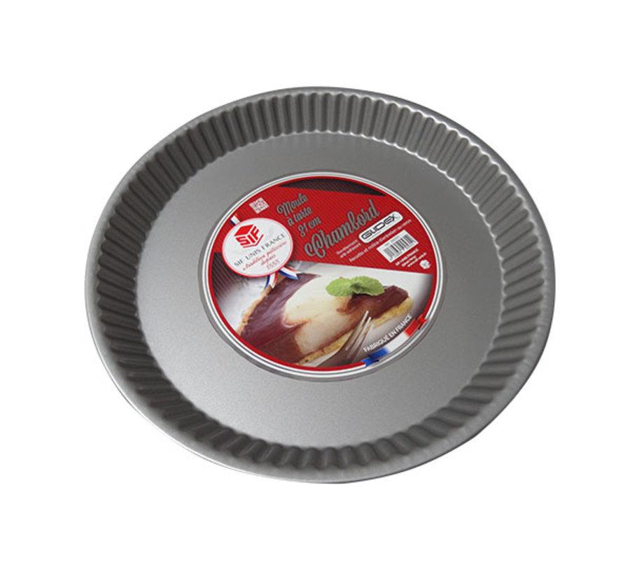 Chambord taartvorm diameter 31cm grijs, 1 stuk