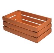 Overige merken Bisetti Gastronormbak 1-3 hout oranje-bruin, 1 stuk