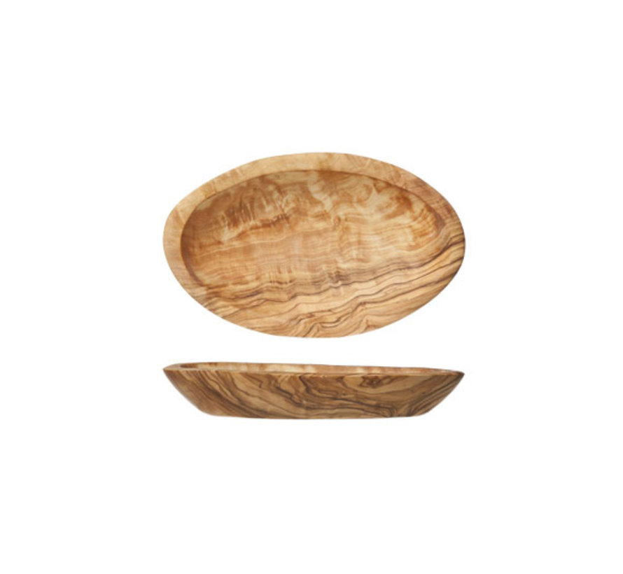 Cosy & Trendy Ovaal schaaltje 17cm olijfhout, 1 stuk