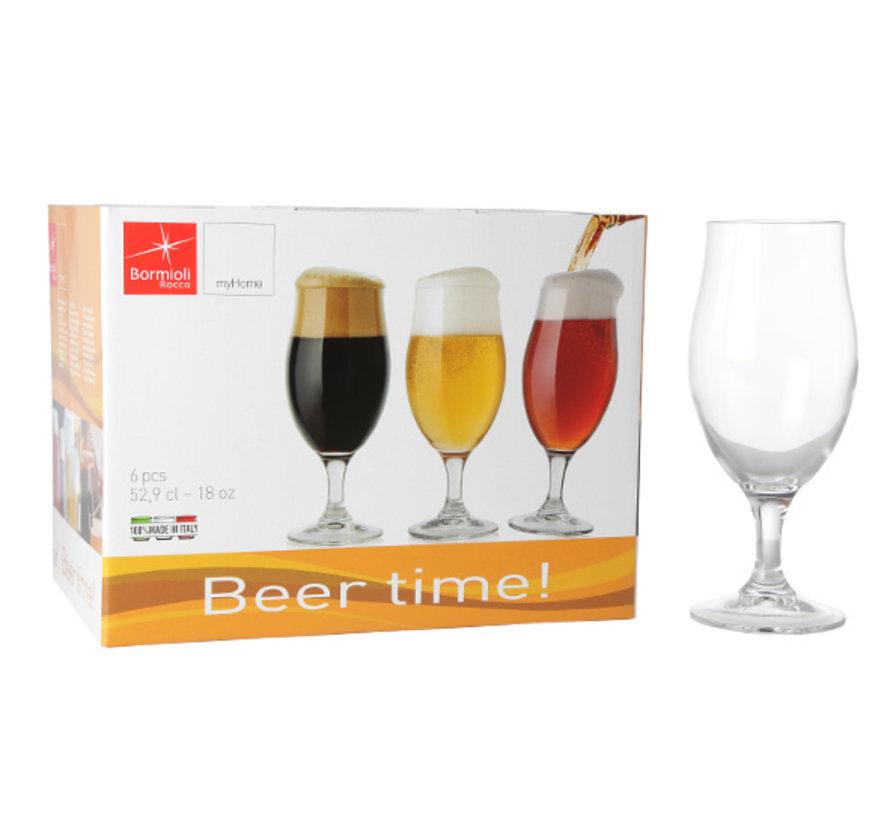 Bormioli Rocco Executive beer time 53 cl s6, 6 stuks