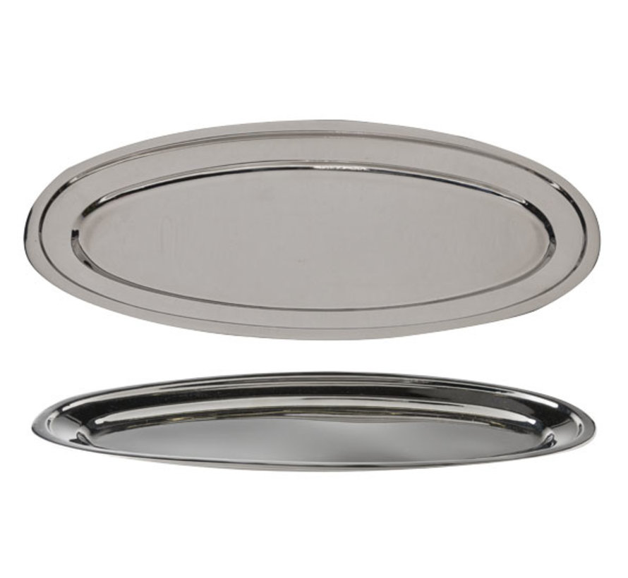 Cosy & Trendy Serveerschaal rvs ovaal 50cm, 1 stuk