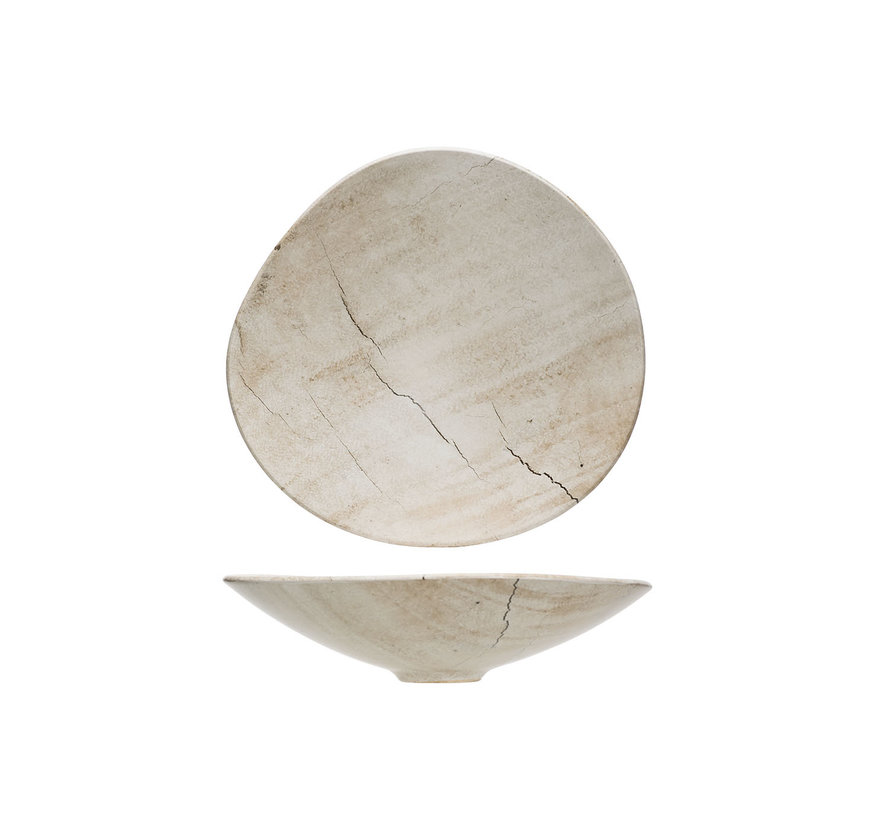 Cosy & Trendy Lithos schaal 29,5x28xh6,5cm, 1 stuk