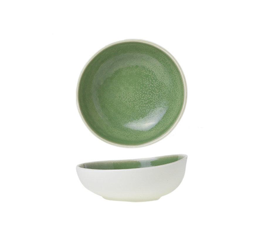 Cosy & Trendy Chrome green kommetje d14cm, 1 stuk