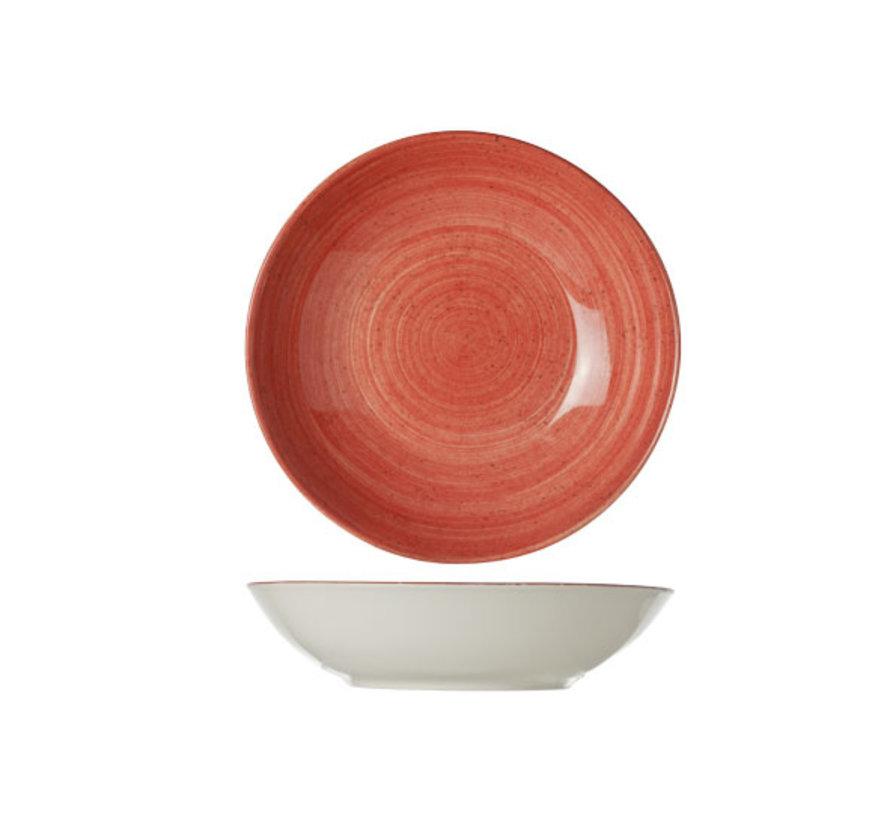 Cosy & Trendy Twister rode diep bord d21cm, 1 stuk