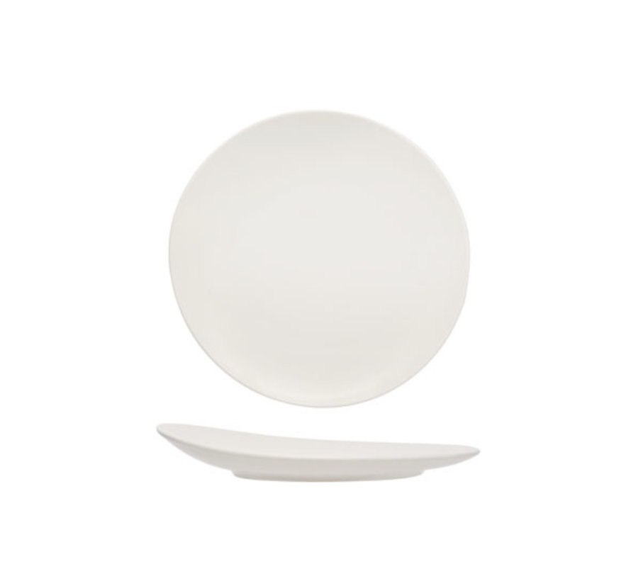 Cosy & Trendy Mat witte dessertbord d21cm, 1 stuk
