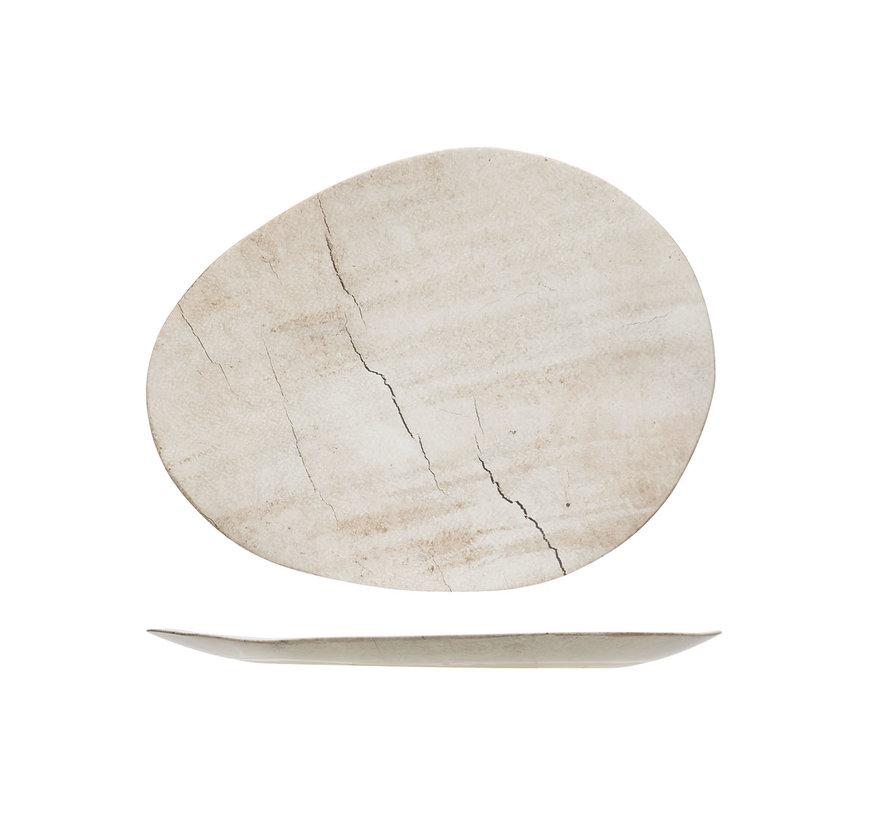 Cosy & Trendy Lithos bord ovaal 37x29xh2cm, 1 stuk