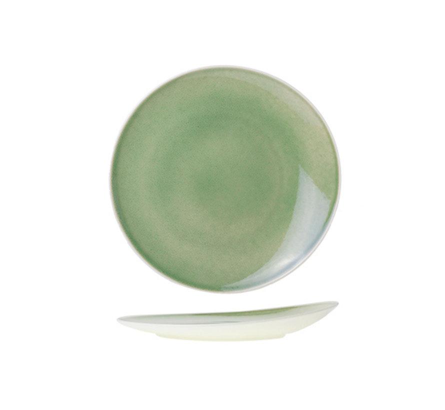 Cosy & Trendy Chrome green plat bord rond 27cm, 1 stuk