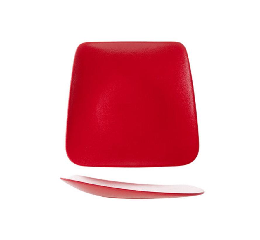Cosy & Trendy Dazzle rode bord 28-23x26cm, 1 stuk