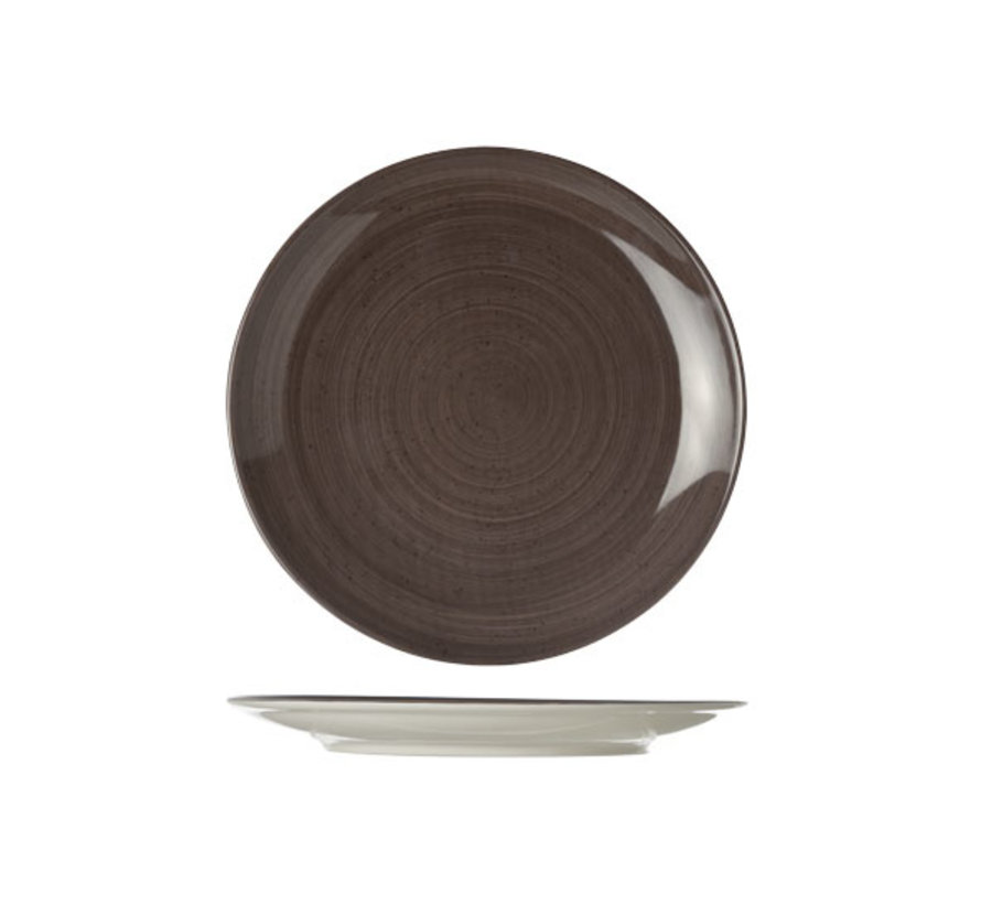 Cosy & Trendy Twister carbon plat bord rond 21cm, 1 stuk