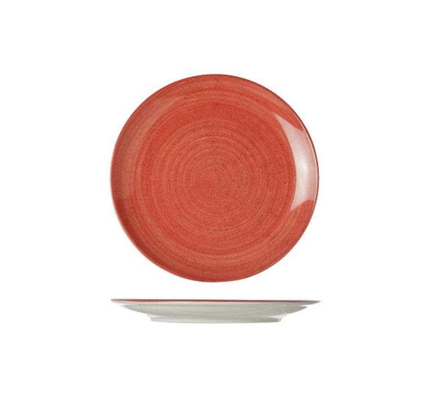 Cosy & Trendy Twister rode plat bord rond 21cm, 1 stuk