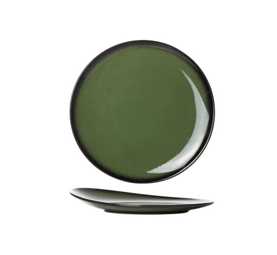 Cosy & Trendy Vigo emerald plat bord rond 21cm, 1 stuk