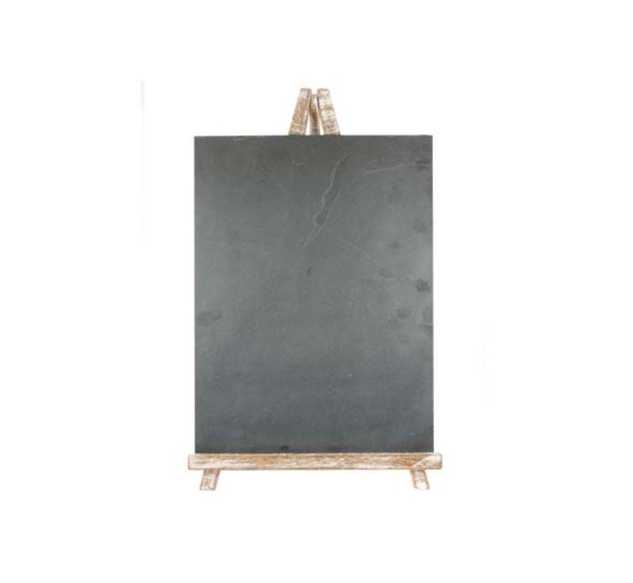 Cosy & Trendy Leisteen op ezel in hout 37x3,3x57,5cm, 1 stuk