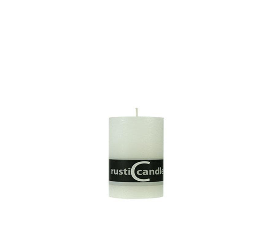 Cosy & Trendy Cylinderkaars rustic 70/130 wit, 1 stuk