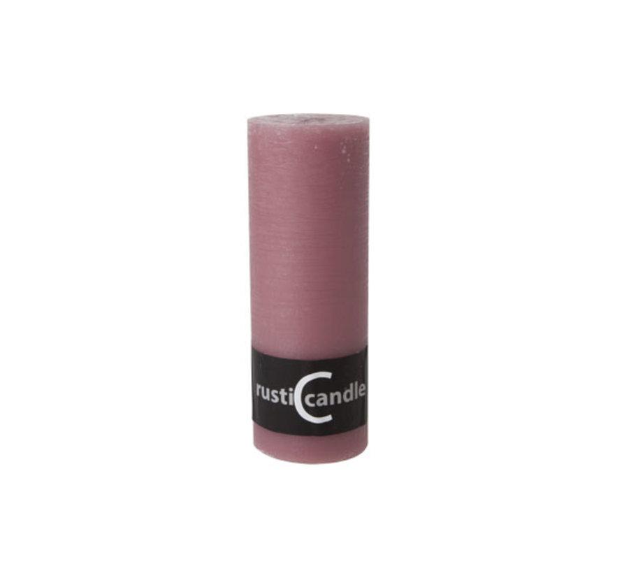Cosy & Trendy Cylinderkaars rustic 70/190 oud roze, 1 stuk