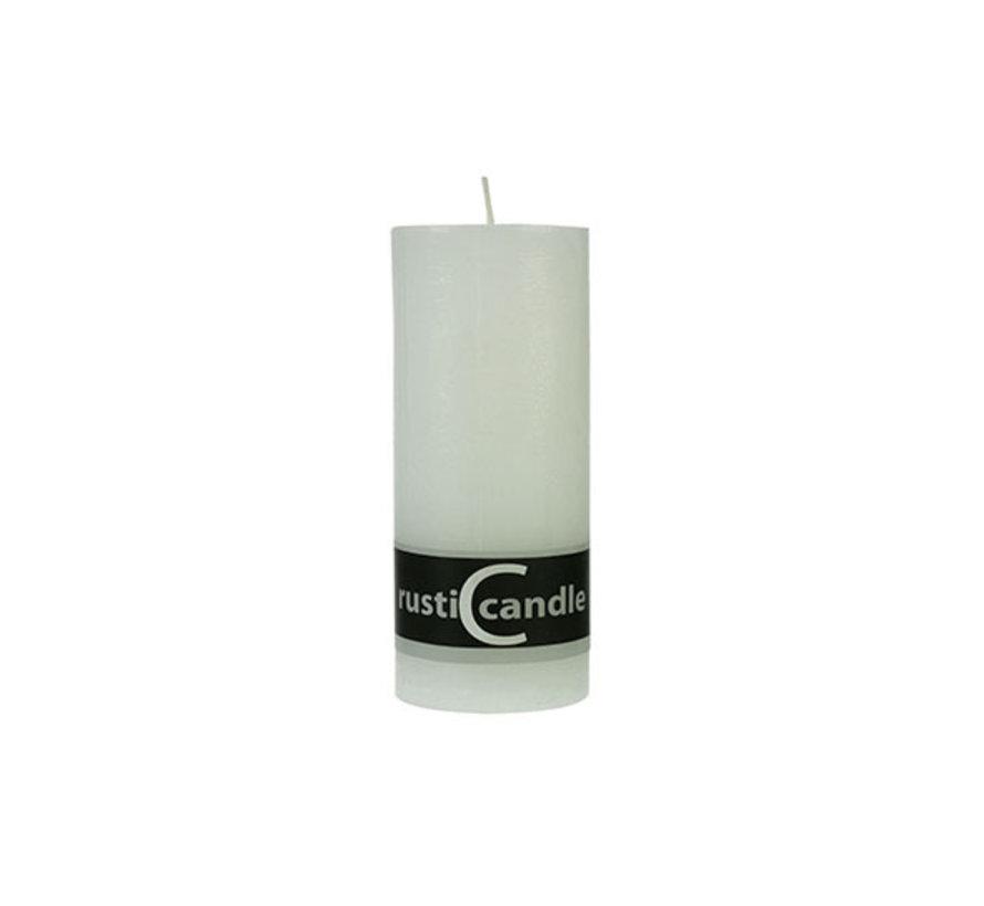 Cosy & Trendy Cylinderkaars rustic 70/190 wit, 1 stuk