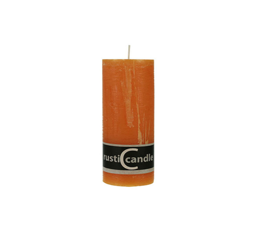 Cosy & Trendy Cylinderkaars rustic 70/190 oranje, 1 stuk