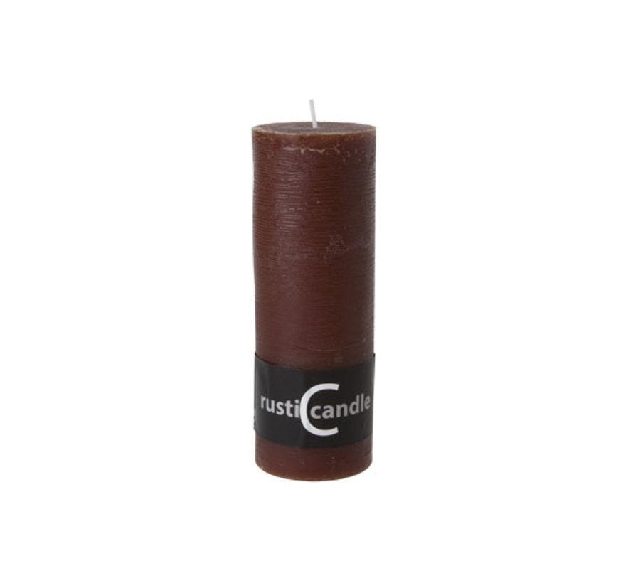 Cosy & Trendy Cylinderkaars rustic 70/190 mokka, 1 stuk