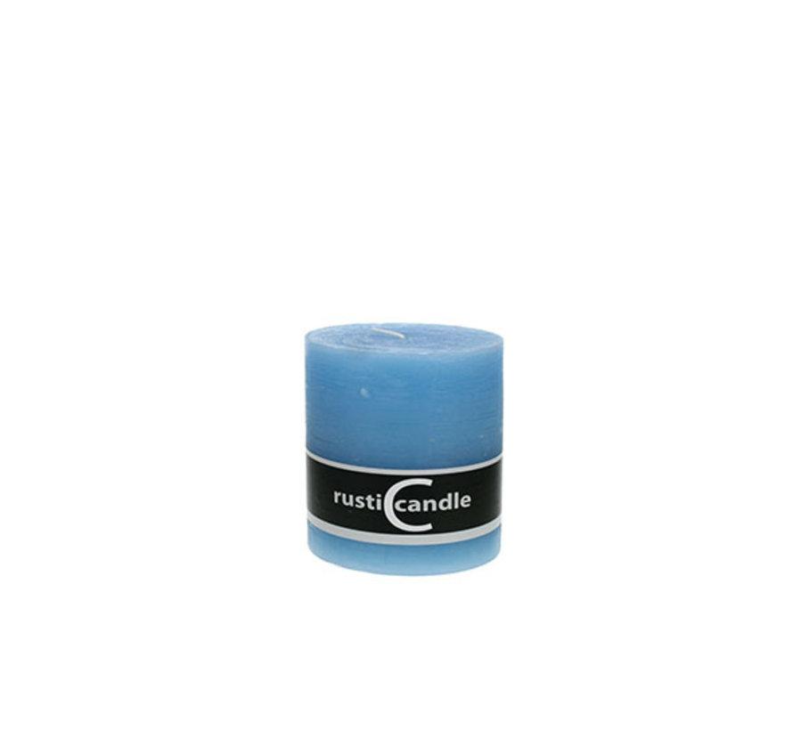Cosy & Trendy Cylinderkaars rustic 100/130 acqua, 1 stuk
