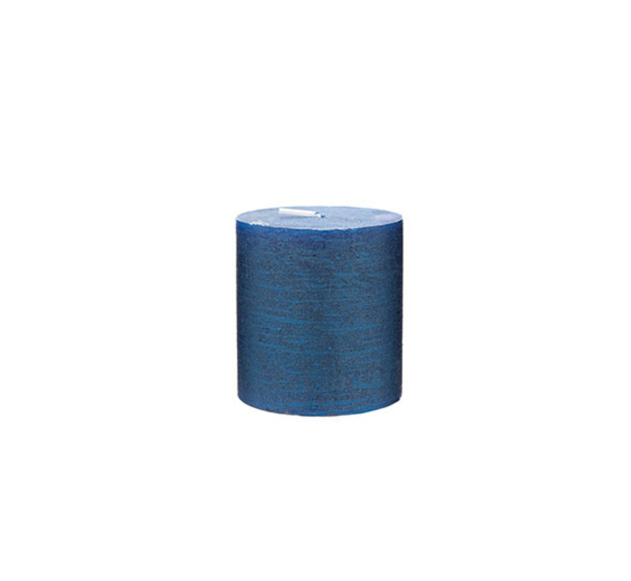 Cosy & Trendy Rustic cylinderkaars met. saffierblauw 8, 1 stuk