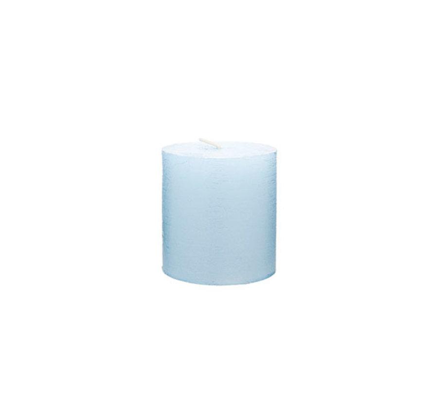 Cosy & Trendy Rustic cylinderkaars met. ijsblauw 8cm, 1 stuk