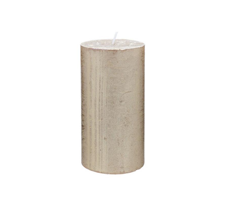 Cosy & Trendy Rustic cylinderkaars metallic goud, 1 stuk