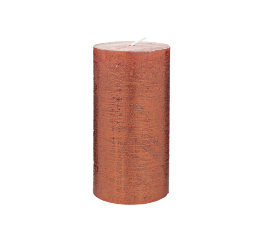 Cosy & Trendy Rustic cylinderkaars met. topaas koper, 1 stuk
